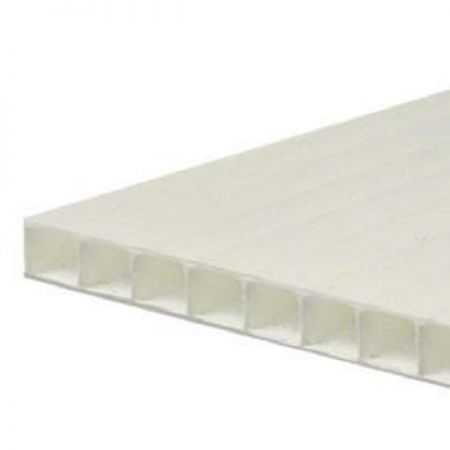 10mm Correx White Fluted Polypropylene Sheet