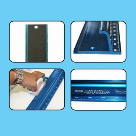 "The Big Blue Safety Ruler 52"" Inches ECSL52"
