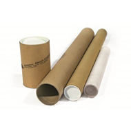 Brown Cardboard Postal Tubes with End Caps