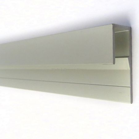 Glass Mirror J Channel Top Fixing
