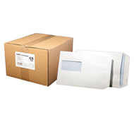 Motif White Window Envelope